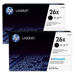 Cartus toner original HP 26X Black 2-pack (2x9k) (CF226XD)