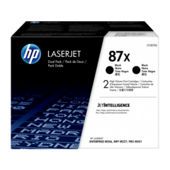 Cartus toner original HP 87X Black 2-pack (2x18k) (CF287XD)