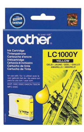 Cartus cerneala original Brother LC1000Y