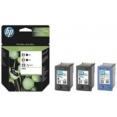 Cartus cerneala original HP 21/21/22 3-pack (SD400AE)