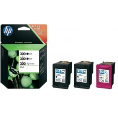 Cartus cerneala original HP 300 3-pack (SD518AE)