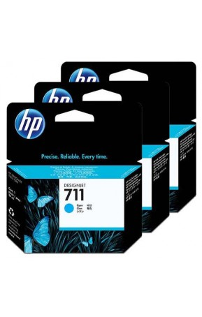 Cartus cerneala original HP 711 3-pack 29ml Cyan