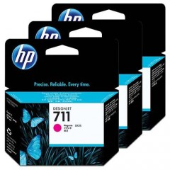 Cartus cerneala original HP 711 3-pack 29ml Magenta