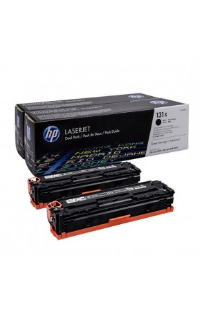 Cartus toner original HP 131X Black 2-Pack 2 x 2.4k (CF210XD)