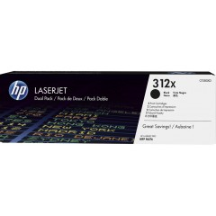 Cartus toner original HP 312X 2-Pack Black 2 x 4.4k (CF380XD)
