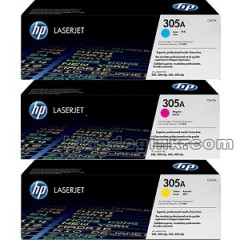 Cartus toner original HP 305A CYM tri-pack