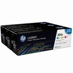 Cartus toner original HP 304A CYM tri-pack