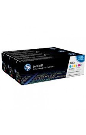 Cartus toner original HP 125A CYM tri-pack